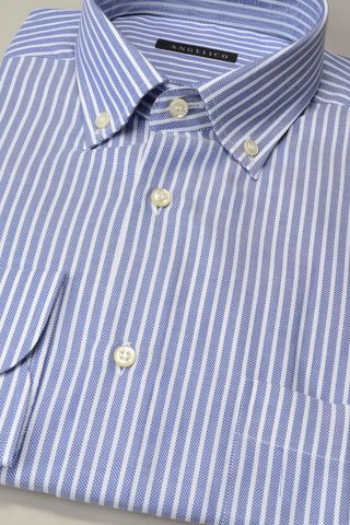 blue striped shirt bd and pocket Angelico