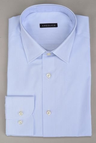 light blue shirt micro-stripes Angelico