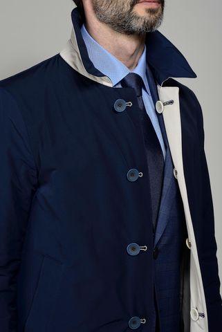 impermeabile blu-beige reversibile Angelico