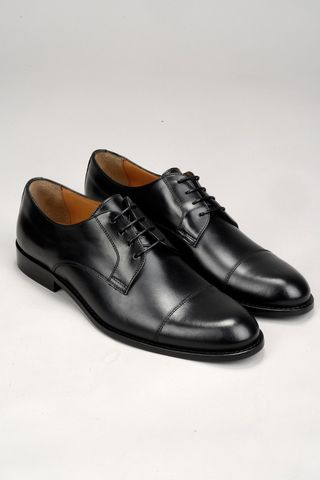 black calfskin derby shoes Angelico