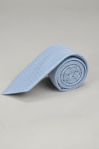 light blue tie with white flowers Angelico