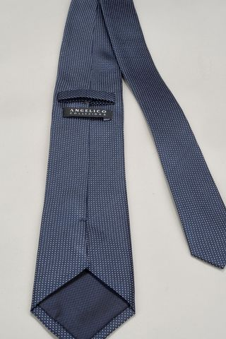 navy tie with micro-polka dots Angelico