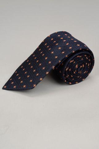 cravatta blu fiori arancio Angelico