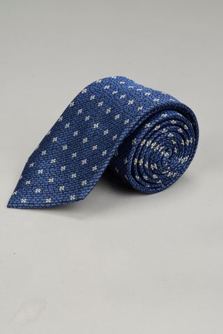 blue tie with pearl flowers Angelico