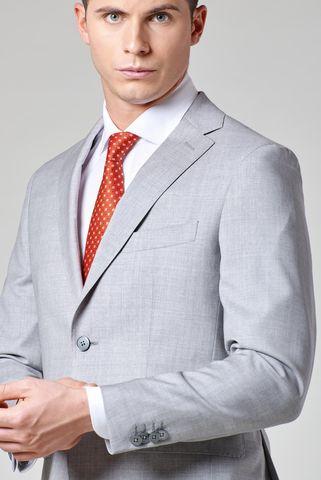 light grey suit 100s slim Angelico
