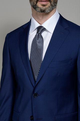 abito blu medio slim fresco di lana 100s Angelico