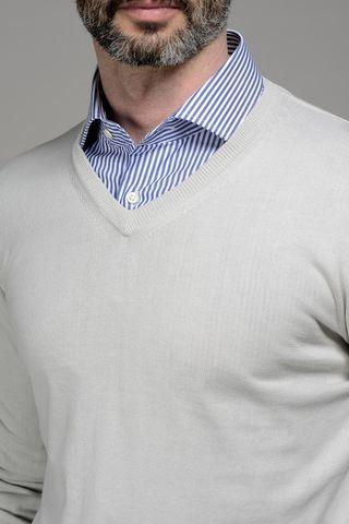 maglia gesso v cotone Angelico
