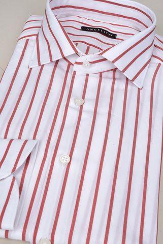 camicia bianca riga rossa Angelico