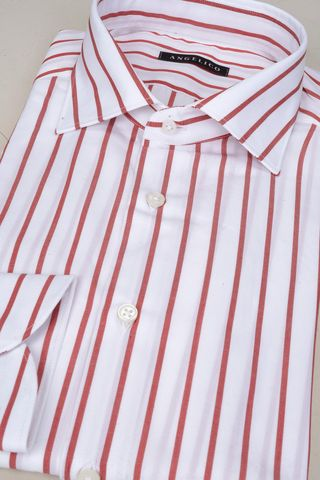 white shirt red stripes Angelico
