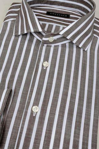 tobac shirt white stripes slim Angelico