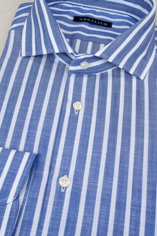 bluette shirt white stripes slim Angelico