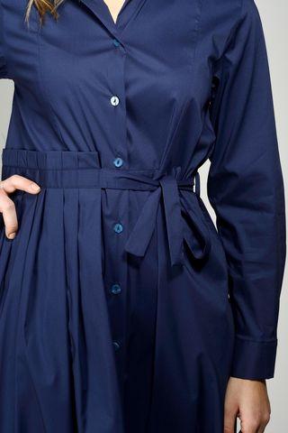 abito blu lungo bottoni manica lunga Angelico