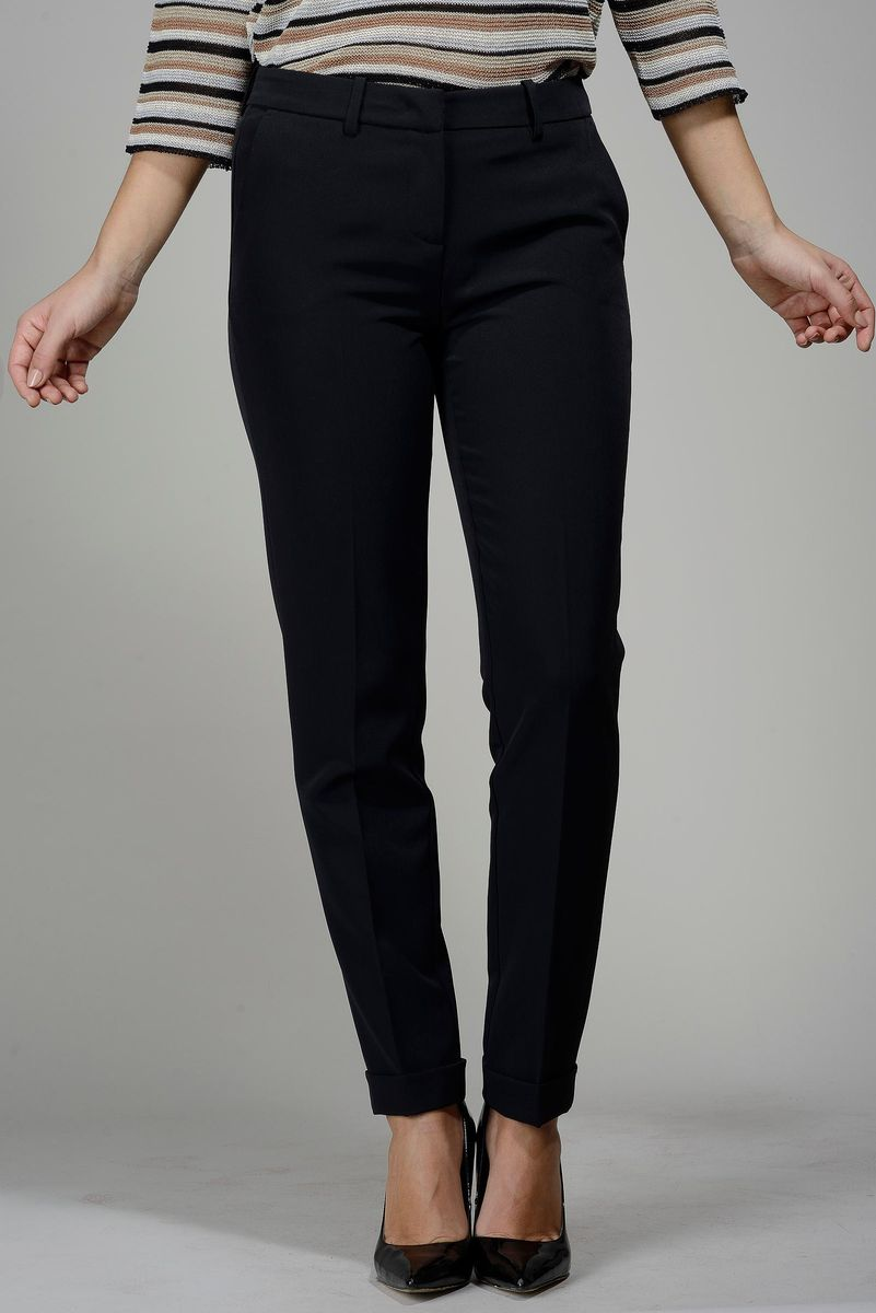 black trousers with turn-up Angelico