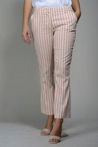 pantalone rosa bianco rigato trombetta Angelico