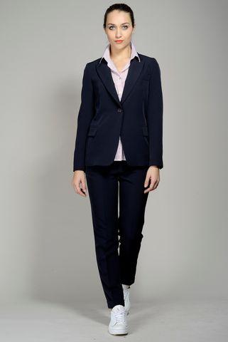 tailleur blu pantalone risvolto Angelico