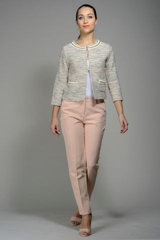 Beige-blue-lurex jacket Angelico