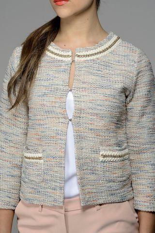 beige-blue-lurex jacket Angelico