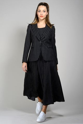 black-pink striped jacket Angelico