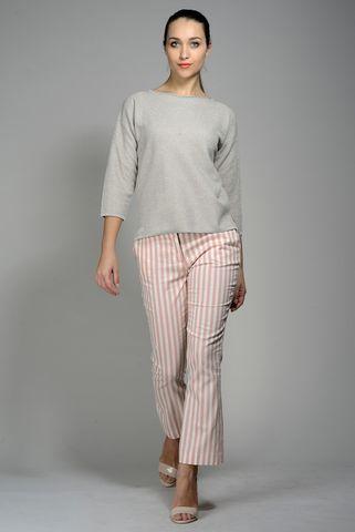 beige-silver roundneck sweatshirt Angelico