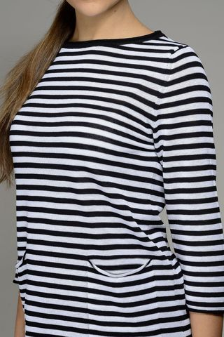 white-black striped woman pullover Angelico
