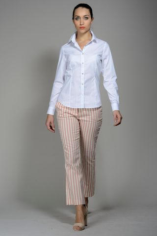 white stretch shirt for women Angelico
