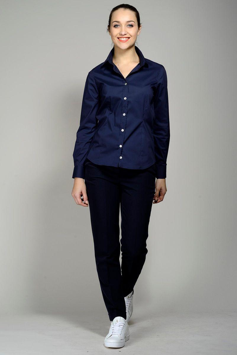 camicia blu donna elasticizzata Angelico