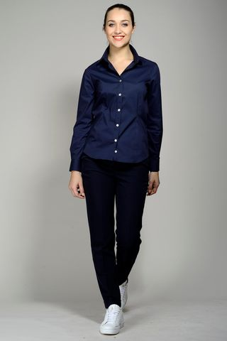 navy stretch shirt for women Angelico