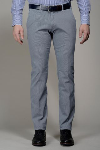 light blue trousers structured cotton slim Angelico