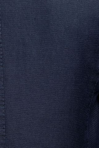 blue jacket structured cotton-ramie Angelico