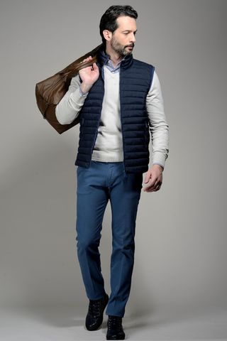 blue waistcoat eco-down 100gr Angelico