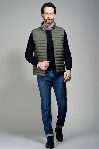 militar green waistcoat 100gr eco-down Angelico
