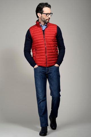 red waistcoat eco-down 100gr Angelico
