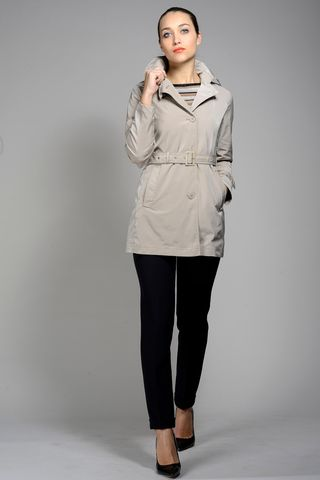 beige womens raincoat with belt Angelico