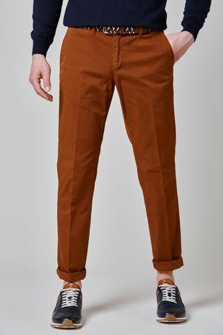 pantalone bruciato stretch tinto capo slim Angelico