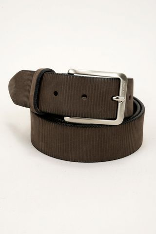 brown nubuck belt striped Angelico