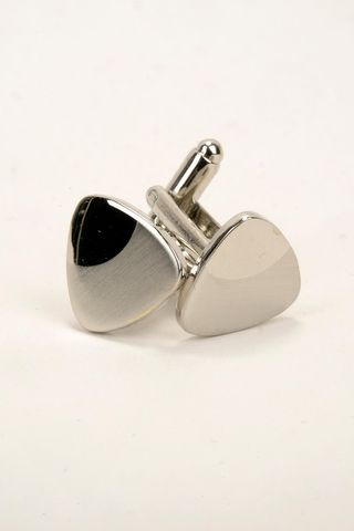 triangular satin metal cufflinks Angelico