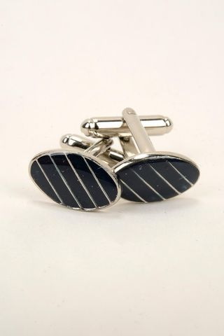 cufflinks blue oval lacquered Angelico