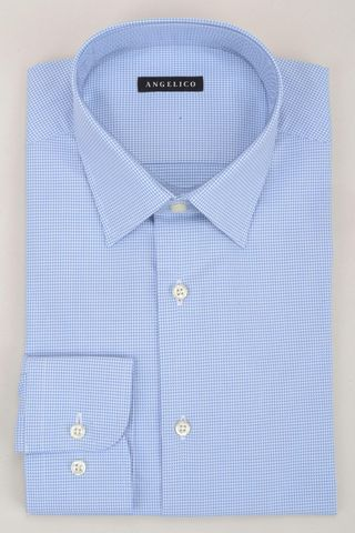 Light blue shirt micro-pattern Angelico
