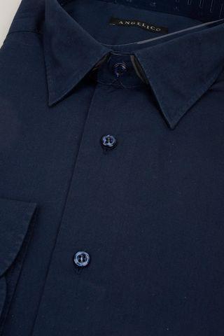 navy shirt slim Angelico