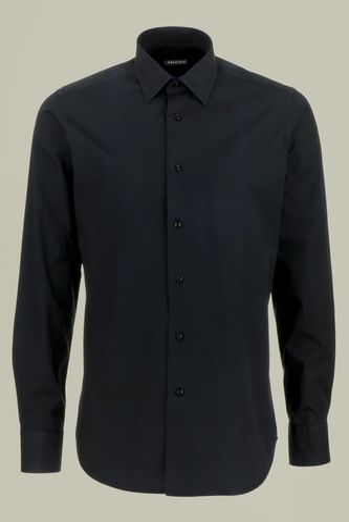 camicia nera slim Angelico