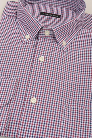 camicia rosso-blu quadretto bd Angelico