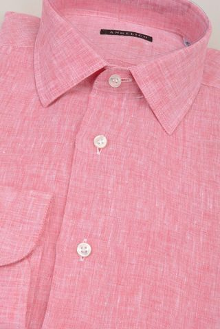 camicia rossa lino melange Angelico
