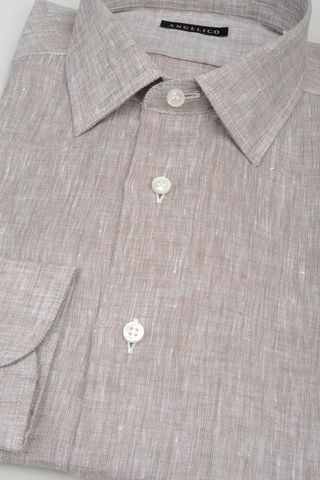 hezelnut linen shirt Angelico
