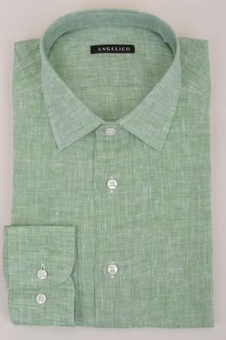 green linen shirt Angelico