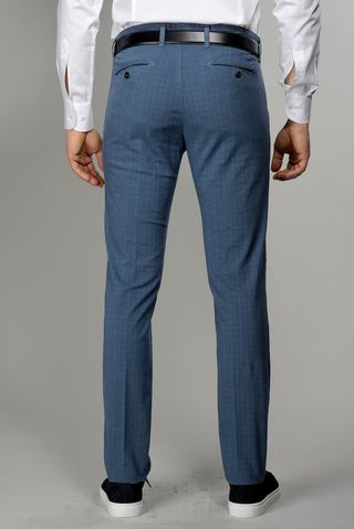 pantalone avio micro-galles slim Angelico