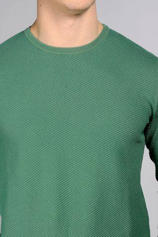 maglia verde operata diagonale Angelico