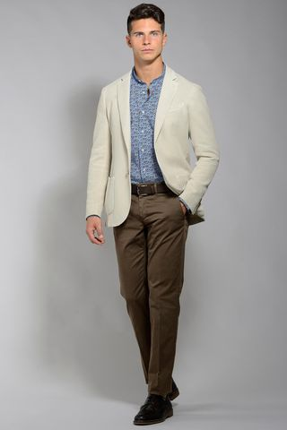 ivory jacket 2 buttons cotton slim Angelico