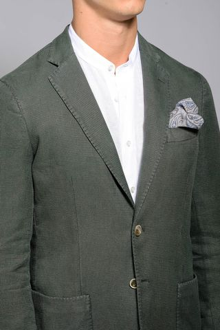 green jacket 2 buttons cotton slim Angelico