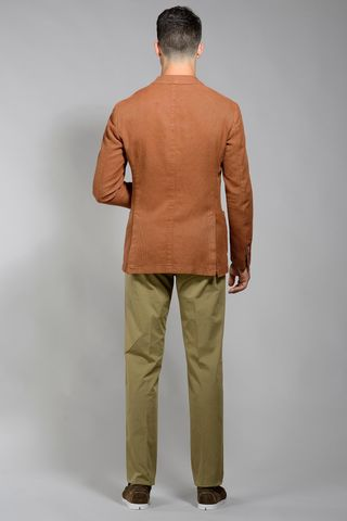 giacca ruggine sportiva cotone slim Angelico