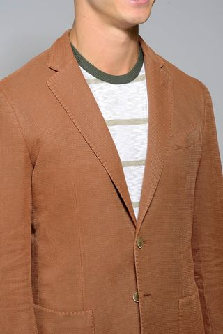 russet jacket 2 buttons cotton slim Angelico